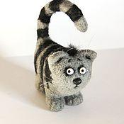 Куклы и игрушки ручной работы. Ярмарка Мастеров - ручная работа Кот усатый - полосатый. Handmade.