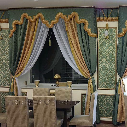 Текстиль, ковры ручной работы. Ярмарка Мастеров - ручная работа. Купить Ламбрекены и шторы в стиле Рококо. Handmade. Бандо, вуаль