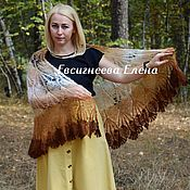 Аксессуары handmade. Livemaster - original item Shawls: Downy openwork shawl