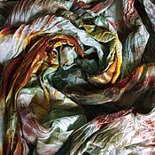 """Аксессуары ручной работы. Ярмарка Мастеров - ручная работа Шарф-палантин """"Бабье лето"""" шерсть/шелк шибори. Handmade."""