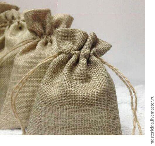 Упаковка ручной работы. Ярмарка Мастеров - ручная работа. Купить Мешочки для упаковки джутовые из мешковины 15x20 см. Handmade. Коричневый