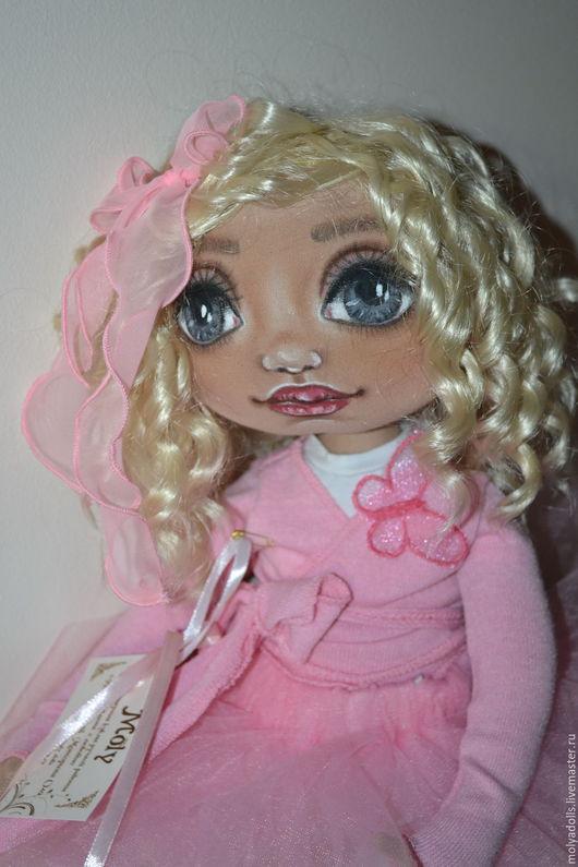 Коллекционные куклы ручной работы. Ярмарка Мастеров - ручная работа. Купить текстильная кукла Лея. Handmade. Розовый