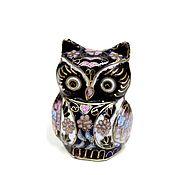 Винтаж handmade. Livemaster - original item Cloisone Collectible Owl Figurine. Handmade.