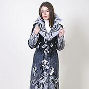 Одежда ручной работы. Ярмарка Мастеров - ручная работа Пальто шерстяное Снежные розы. Handmade.