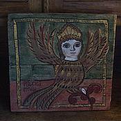 """Картины и панно ручной работы. Ярмарка Мастеров - ручная работа Картина на старых досках """"Птица Сирин"""". Handmade."""