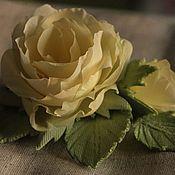 Украшения ручной работы. Ярмарка Мастеров - ручная работа шелковая роза. Handmade.