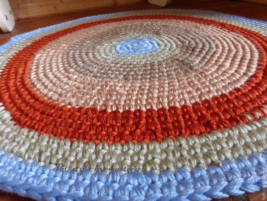 Текстиль, ковры ручной работы. Ярмарка Мастеров - ручная работа. Купить Коврик вязаный крючком. Handmade. Вязаный коврик