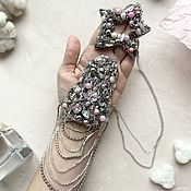 Украшения handmade. Livemaster - original item Copy of Epaulette on one shoulder with pearls. Handmade.