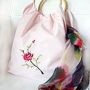 Пляжная сумка ручной работы. Ярмарка Мастеров - ручная работа пляжная сумка с вышивкой. Handmade.