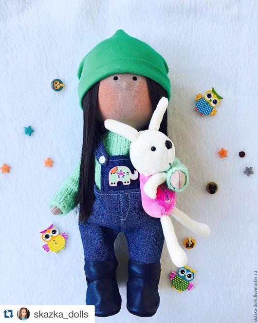 Куклы тыквоголовки ручной работы. Ярмарка Мастеров - ручная работа. Купить Кукла ручной работы. Handmade. Ярко-зелёный
