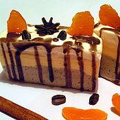 """Косметика ручной работы. Ярмарка Мастеров - ручная работа мыло-пирожное """"Апельсин-Шоколадный трюфель"""". Handmade."""