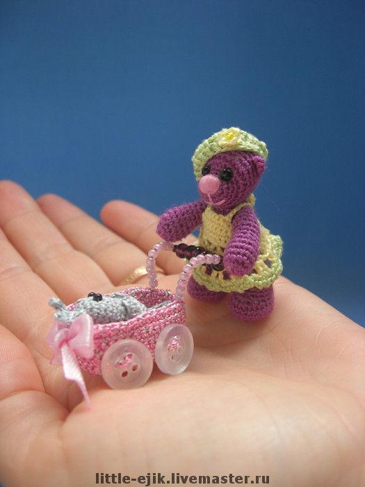 Игрушки животные, ручной работы. Ярмарка Мастеров - ручная работа. Купить мишка Лиза. Handmade. Авторская игрушка, мишка, коляска