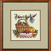 """Картины и панно ручной работы. Ярмарка Мастеров - ручная работа """"Грибное лукошко"""". Handmade."""