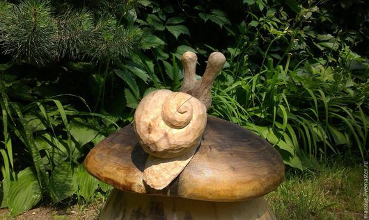 Экстерьер и дача ручной работы. Ярмарка Мастеров - ручная работа. Купить гриб с улиткой. Handmade. Детская мебель, сосна