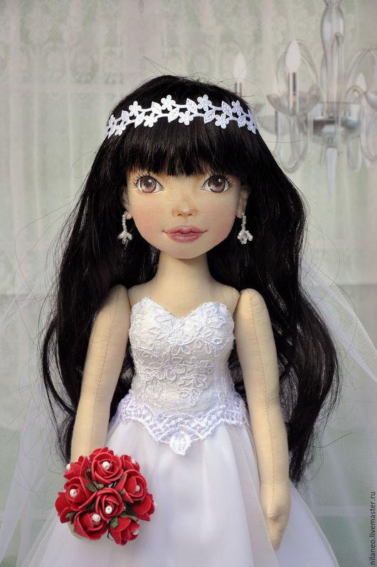 Коллекционные куклы ручной работы. Ярмарка Мастеров - ручная работа. Купить Текстильная кукла невеста. Handmade. Белый, свадебный подарок
