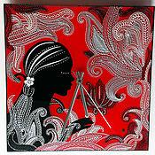 Для дома и интерьера ручной работы. Ярмарка Мастеров - ручная работа Часы настенные «Девушка в кружевах». Handmade.