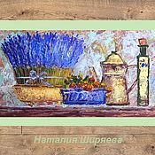 """Картины и панно ручной работы. Ярмарка Мастеров - ручная работа """"Натюрморт с Лавандой"""" картина маслом Прованс. Handmade."""
