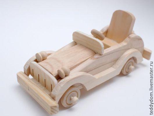 Куклы и игрушки ручной работы. Ярмарка Мастеров - ручная работа. Купить Машинка деревянная малая, кабриолет. Handmade. Бежевый, томск
