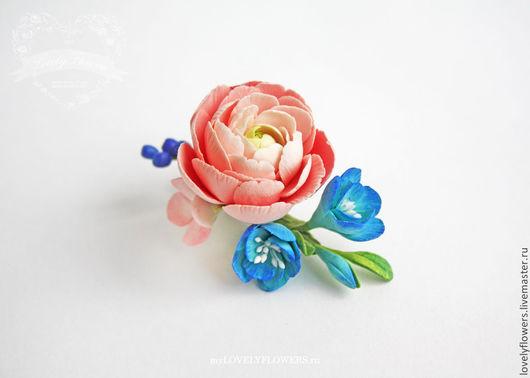 Свадебные украшения ручной работы. Ярмарка Мастеров - ручная работа. Купить Цветы для прически. Handmade. Цветы ручной работы, персик