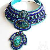 Украшения handmade. Livemaster - original item Egyptian necklace blue with natural stones. Handmade.