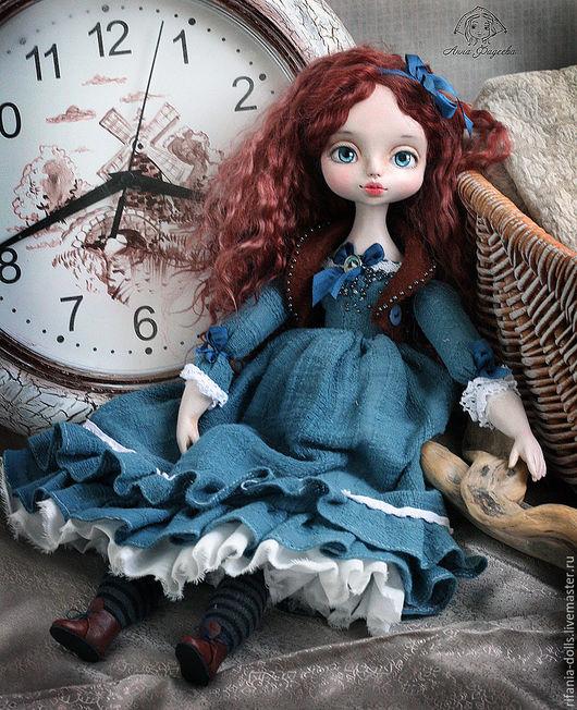Коллекционные куклы ручной работы. Ярмарка Мастеров - ручная работа. Купить Элис. Handmade. Синий, ла долл, трикотаж