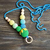 Одежда ручной работы. Ярмарка Мастеров - ручная работа Слингобусы в зелено-голубых тонах - подвеска кольцо. Handmade.