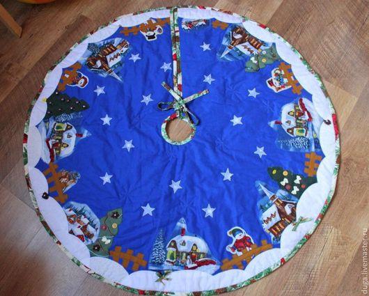 Новый год 2017 ручной работы. Ярмарка Мастеров - ручная работа. Купить Коврик, юбка под елку «Рождественская ночь» № 253. Handmade.