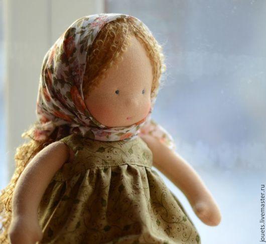 Вальдорфская игрушка ручной работы. Ярмарка Мастеров - ручная работа. Купить Фросенька, вальдорфская кукла, 36см. Handmade. Оливковый