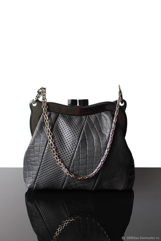 Handbags handmade. Livemaster - handmade. Buy Black leather clutch 46ca52ea9