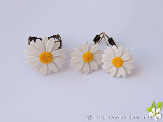 Daisy ring and earrings, Jewelry Sets, Omsk,  Фото №1