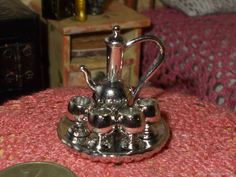 Кукольная миниатюра, посуда, сервиз для вина, масштаб 1:12, Китай, Аксессуары для кукол и игрушек, Псков,  Фото №1