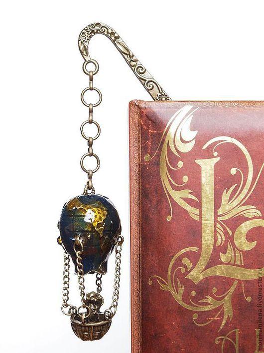 """Закладки для книг ручной работы. Ярмарка Мастеров - ручная работа. Купить Закладка для книг """" Путешествие на воздушном шаре """". Handmade."""