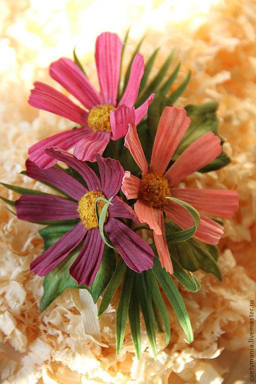 """Цветы ручной работы. Ярмарка Мастеров - ручная работа. Купить """"ТАНГО ВТРОЕМ-2"""". Handmade. Бутоньерка, цветы из шелка"""