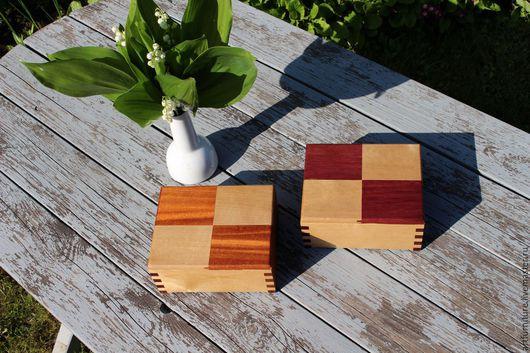 Шкатулки ручной работы. Ярмарка Мастеров - ручная работа. Купить Деревянная шкатулка для украшений и мелочей из ценных пород дерева. Handmade.