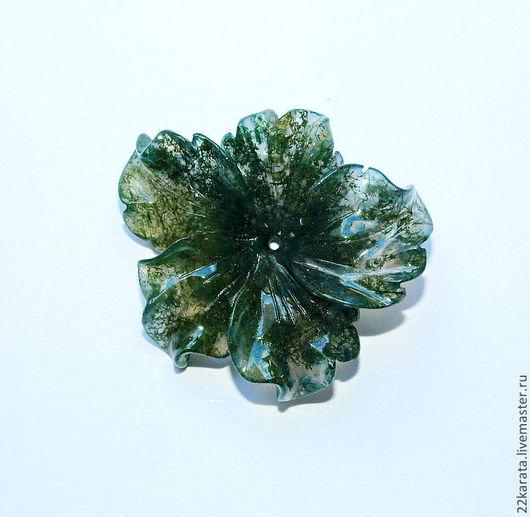 Для украшений ручной работы. Ярмарка Мастеров - ручная работа. Купить Агат моховой, Цветок. Handmade. Агат моховой