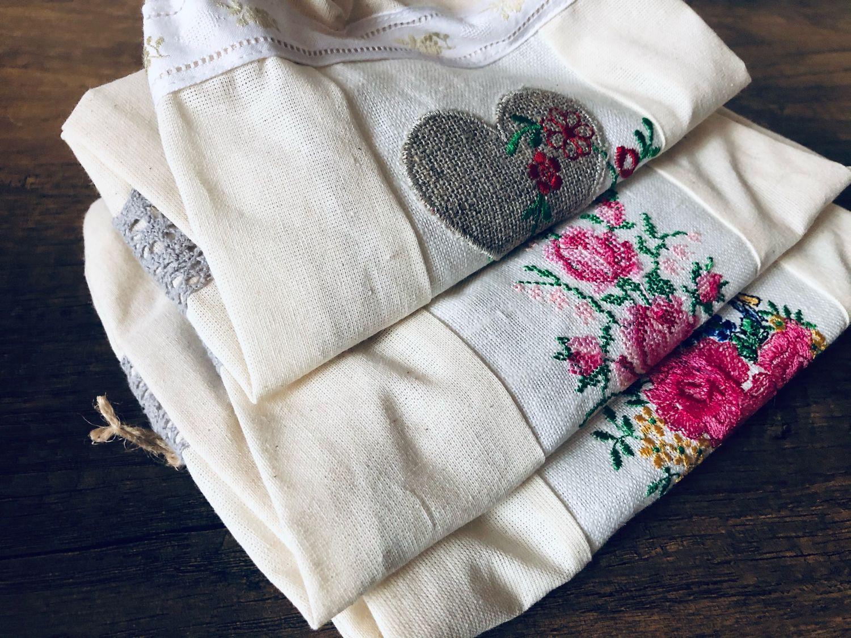 Мешочек текстильный с вышивкой, Утварь, Тольятти,  Фото №1