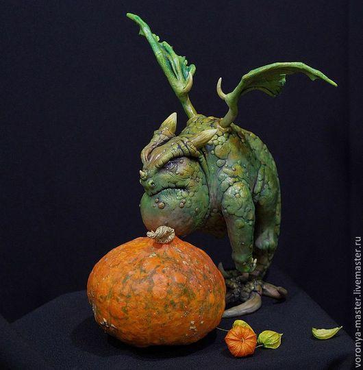 Коллекционные куклы ручной работы. Ярмарка Мастеров - ручная работа. Купить Дракон по имени Герольд. Handmade. Зеленый, полимерная глина