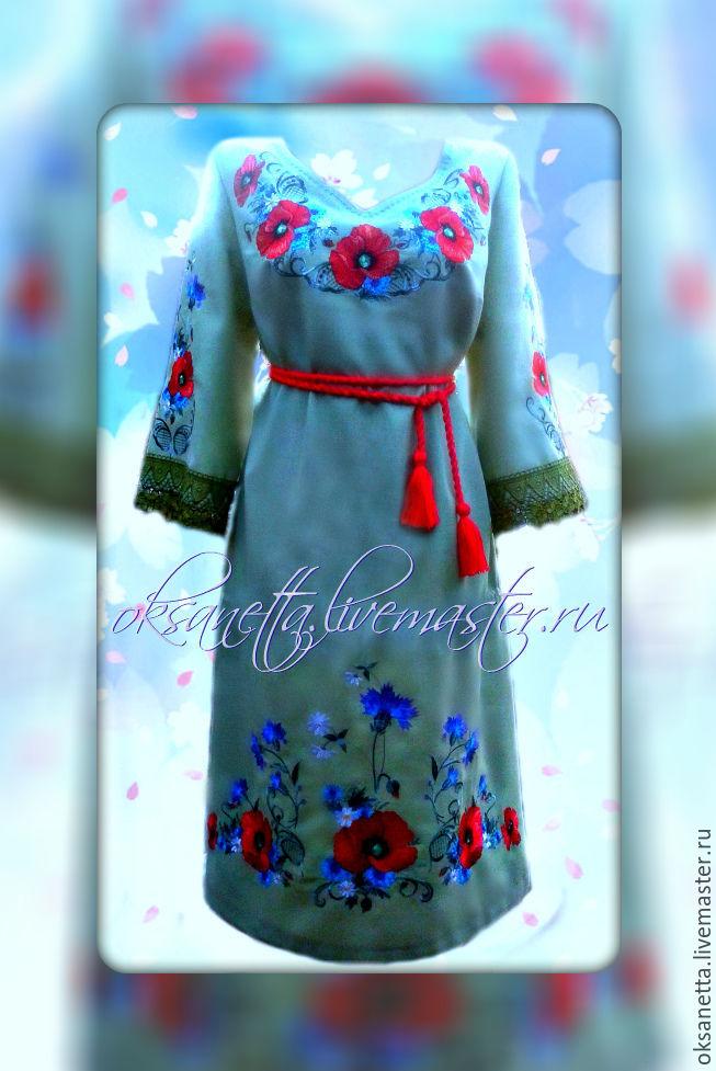 Dress 'Poppies', Dresses, Zaporozhye,  Фото №1