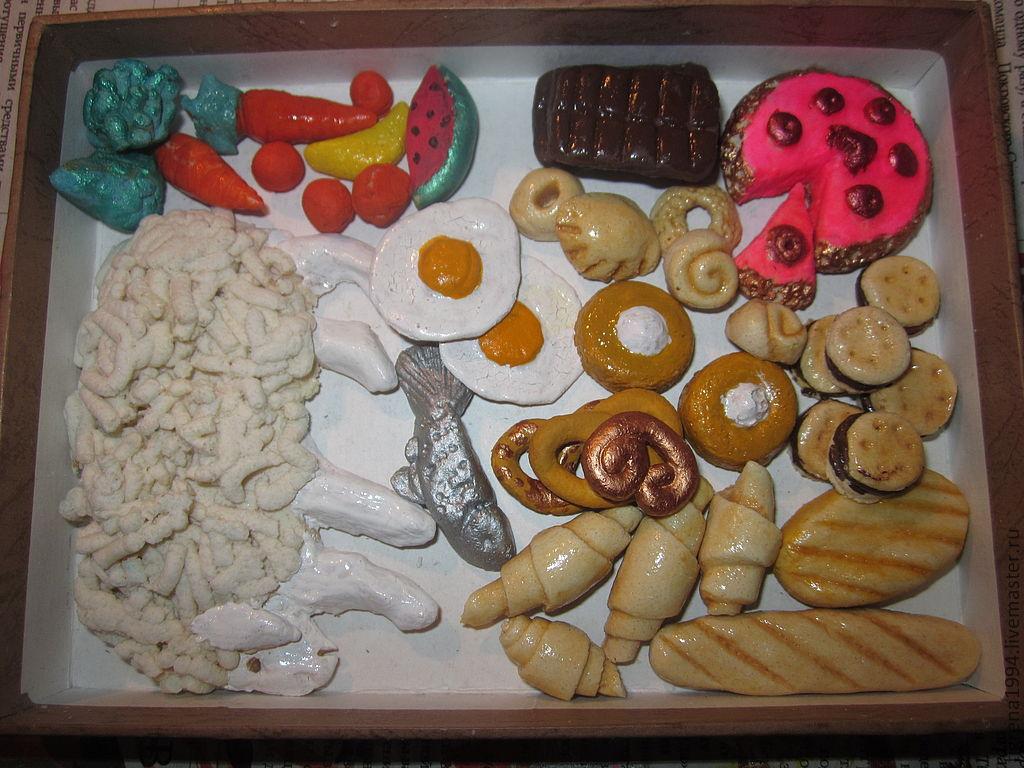 Как сделать из теста еду для кукол