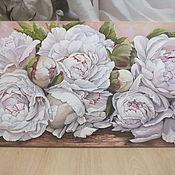 """Картины и панно ручной работы. Ярмарка Мастеров - ручная работа """" Пионовый зефир"""". Handmade."""