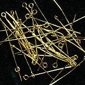 Материалы для творчества handmade. Livemaster - original item Pins with a loop for jewelry under gold, 38h0,7, 50 mm ( pieces). Handmade.