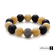 Bead bracelet handmade. Livemaster - original item Renaissance bracelet in Baltic amber with silver charm. Handmade.