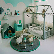 Для дома и интерьера ручной работы. Ярмарка Мастеров - ручная работа № 7 Кроватка - домик в сером цвете. Handmade.