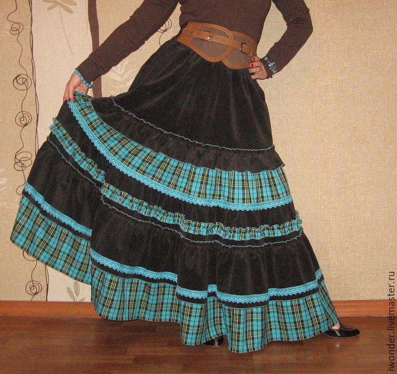 Сшить юбка длинная с воланами