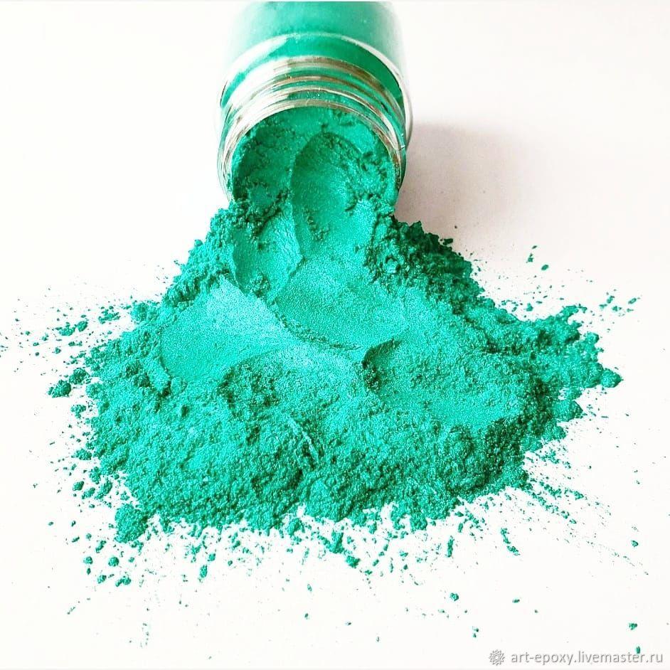Pearl pigment. Color: aquamarine. Volume 10 gr, Glitters, Volgograd,  Фото №1