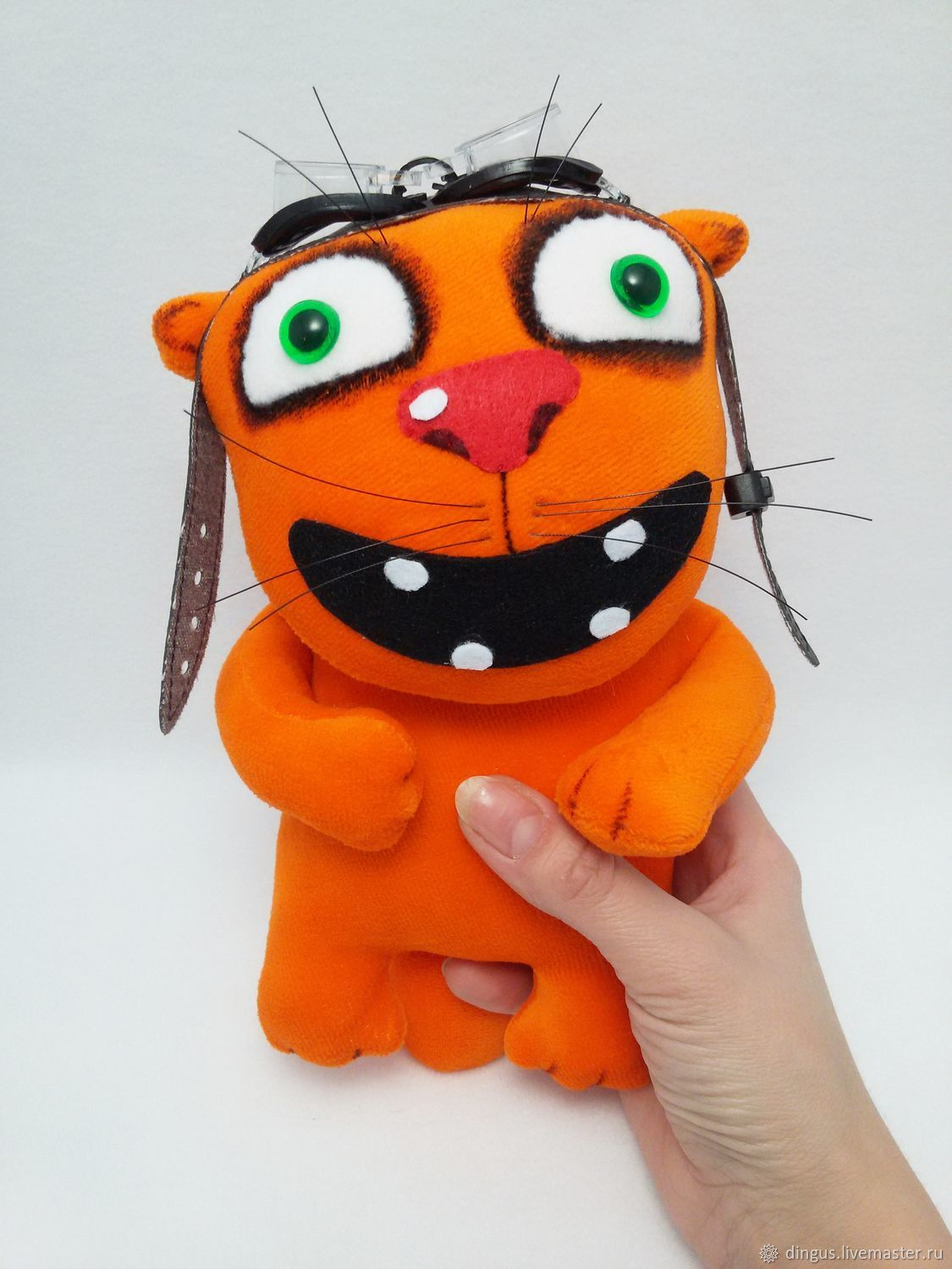 7b881c848aaa Soft toy plush red cat pilot with glasses – shop online on ...