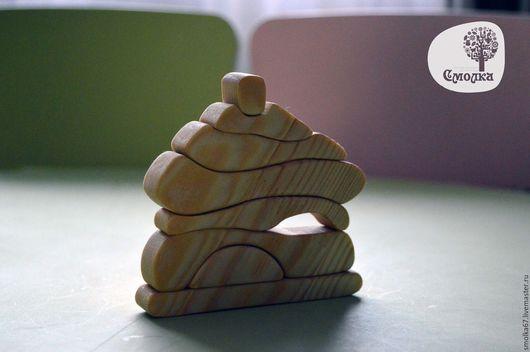 Развивающие игрушки ручной работы. Ярмарка Мастеров - ручная работа. Купить Домик-пазл. Развивающая деревянная игрушка.. Handmade. Пазл