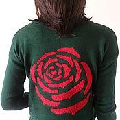 Одежда ручной работы. Ярмарка Мастеров - ручная работа Пуловер Алая роза. Handmade.