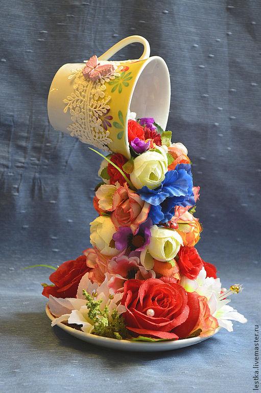 Праздничная атрибутика ручной работы. Ярмарка Мастеров - ручная работа. Купить цветочный фонтан. Handmade. Цветочный фонтан, исскуственные цветы