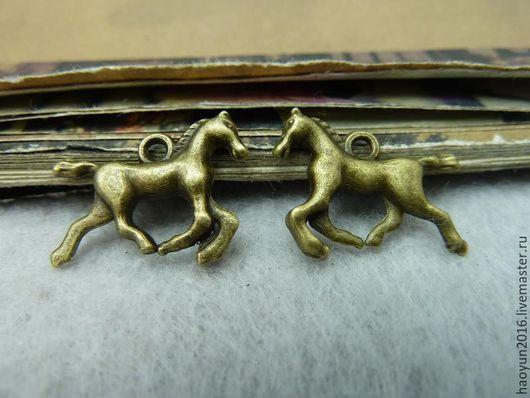 Для украшений ручной работы. Ярмарка Мастеров - ручная работа. Купить 20 шт металлические подвески бронза  лошадь  C6446. Handmade.